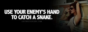 Click to view use your enemys hand facebook cover photo