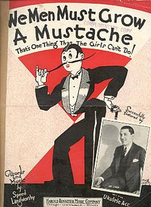 Sheet music poking fun at the masculine traits many women adopted ...