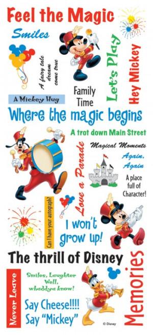 Sandylion - Disney - Mickey Phrase Scrapbook Stickers, CLEARANCE