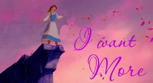 Disney Princess Belle on Pocahontas background