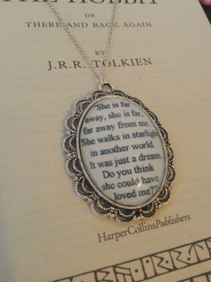 The Hobbit Kili and Tauriel Stars Quote Necklace on Etsy, $19.00