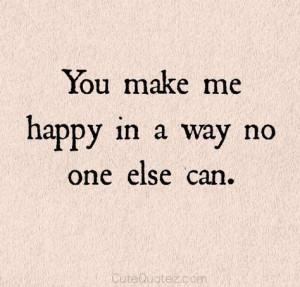 you make me happy