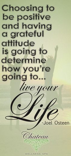 ... determine how you're going to live your life. -Joel Osteen @Quote More