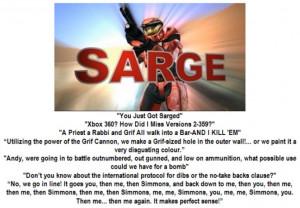 Fav Sarge mottos by ShepardSoldier