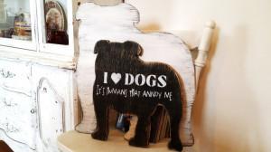 Home Decor > English Bulldog art, funny dog art, customized dog quote ...