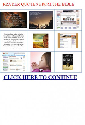 prayer quotes from the bible - In the