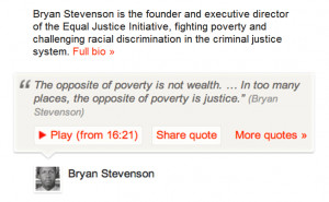Ted Talk share quote UX design example Bryan Stevenson