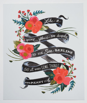 11 x 14 Art Print Elvis Quote Meant to Be Floral by firstsnowfall, $46 ...