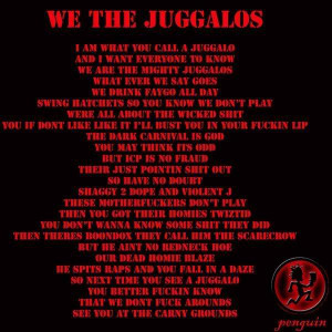 All Graphics » the juggalo pledge