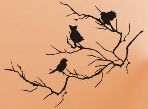 birds on tree branch stencil white tree brach curtain design