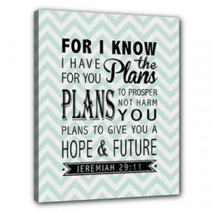 Jeremiah 2911 Bible Verse Inspirational Quote by ANCHORandVINE, $40.00