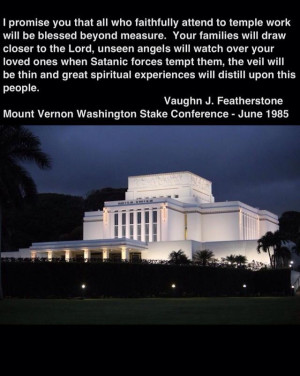 Temple quote Vaughn Featherstone