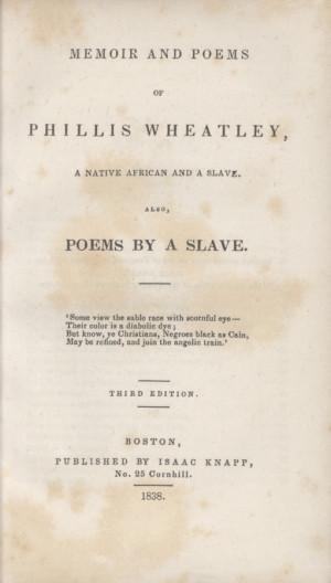 Poems Phillis Wheatley Quot