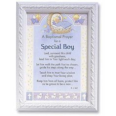 baptism quotes for babies | baptismal prayer for a special boy print a ...