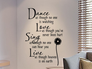 wall decals for teens | Girls Bedroom Wall Decal Dance As Though No ...
