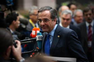 Antonis Samaras Antonis Samaras the Prime Minister of Greece arrives