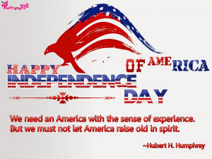 an America with the sense of experience. But we must not let America ...