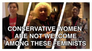 "... — only to be told that ""conservative"" women were not welcome"