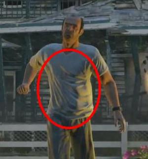 Wrinkle effects on Trevor shirt.