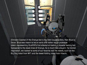 Does GLaDOS hate Atlas, the blue robot?