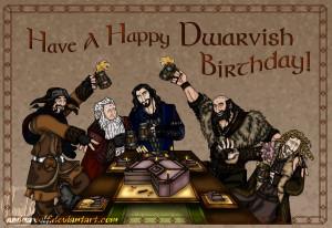 The Hobbit: Happy Dwarvish Birthday! by aminawolf