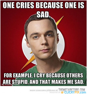 """... think that if I were wrong, I'd Know it ?"""" – Dr Sheldon Cooper"""