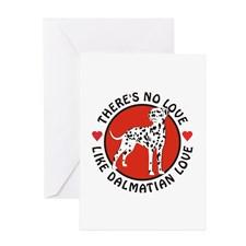 Dalmatian Love Greeting Card for