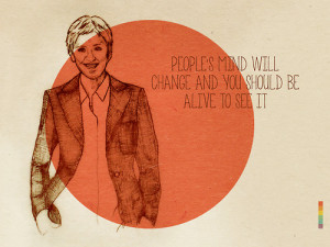Ellen DeGeneres | Tolerance and Respect, college project.