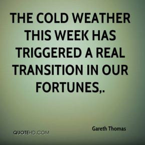 The Cold Weather This Week...
