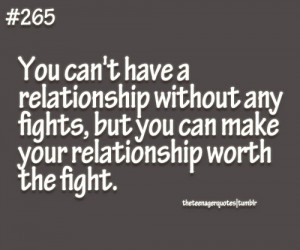 ... relationship without any fights but you can make your relationship