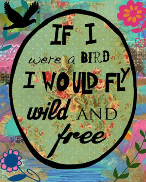 fly like a bird :] what's stopping you?
