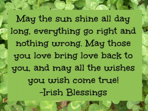 Irish Blessings and Good Luck Sayings - Pretty Opinionated