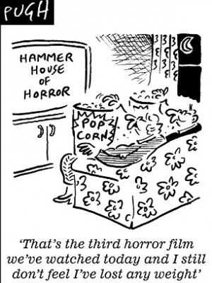Watching your weight? Try watching a horror movie! Scary films can ...