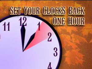 Don't Forget To 'Fall Back' Sunday