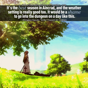 day the weather is nice.Sword Art Online Chibi, Swords Art, Quotes ...