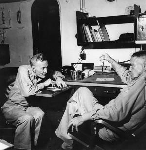 Description VAdm John S. McCain and Adm William F. Halsey aboard USS ...