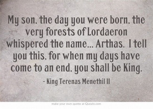 Father of the Lich King. King of Lordaeron. Frostmourne. King Terenas ...