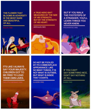 Disney Quotes Mulan, Hercules, Pocahontas, The Little Mermaid, Aladdin ...