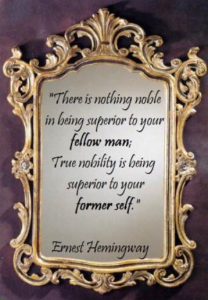 quotes #superior #noble #ernest #hemingway