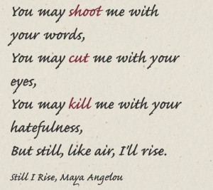 Maya Angelou. Got me through a rough period. Love her poetry.