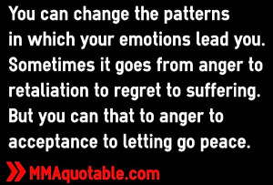 anger to retaliation to regret to suffering but you can that to anger ...