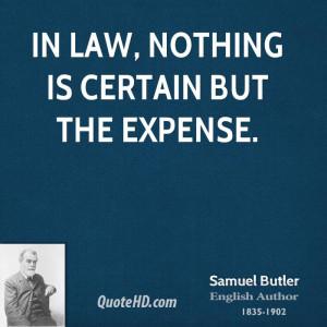 Samuel Butler Legal Quotes