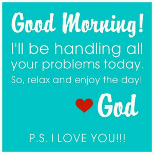 Let God take control!