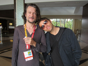 ... sweet from #sdcc for Sunday: Ben Edlund and Misha Collins, bros