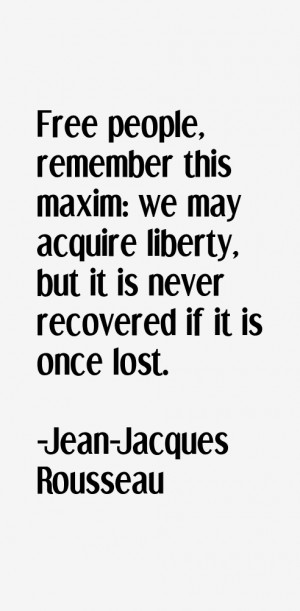 Jean-Jacques Rousseau Quotes & Sayings
