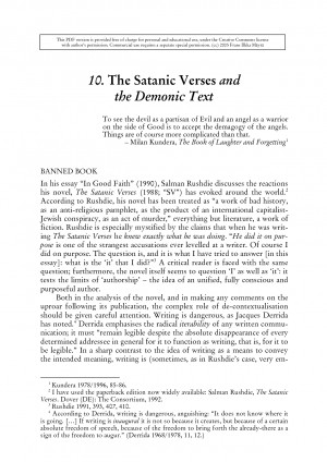 10. The Satanic Verses and the Demonic Text