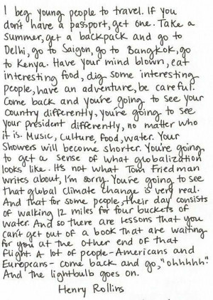 Beg Young People To Travel: Quote About I Beg Young People To Travel ...