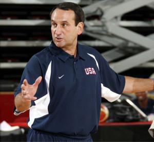United States National Head Coach Mike Krzyzewski
