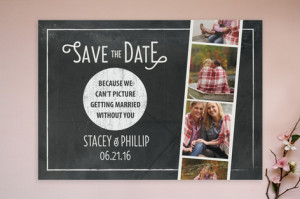 Chalkboard Photo Booth Save the Date Cards by hann... | Minted