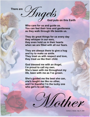 ... God Puts On This Earth Who Cares For Us And Guide Us… ~ Mother Quote